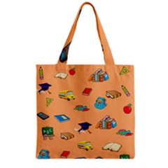 School Rocks! Grocery Tote Bag by athenastemple