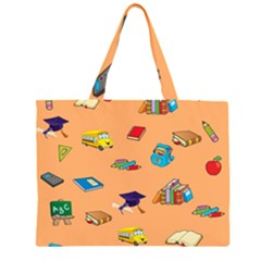 School Rocks! Zipper Large Tote Bag by athenastemple
