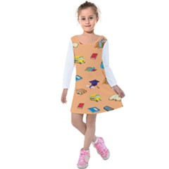 School Rocks! Kids  Long Sleeve Velvet Dress by athenastemple