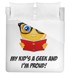 Geek Kid Duvet Cover (queen Size) by athenastemple