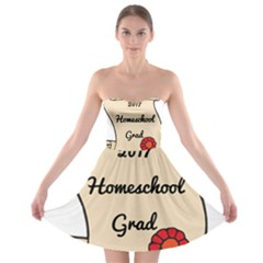 2017 Homeschool Grad! Strapless Bra Top Dress
