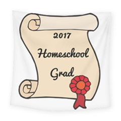 2017 Homeschool Grad! Square Tapestry (large) by athenastemple