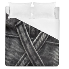 Backdrop Belt Black Casual Closeup Duvet Cover (queen Size) by Nexatart