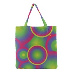 Background Colourful Circles Grocery Tote Bag by Nexatart