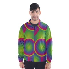 Background Colourful Circles Wind Breaker (men)