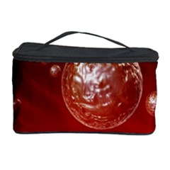 Background Red Blow Balls Deco Cosmetic Storage Case by Nexatart