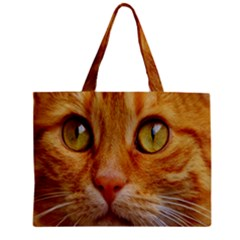 Cat Red Cute Mackerel Tiger Sweet Mini Tote Bag by Nexatart