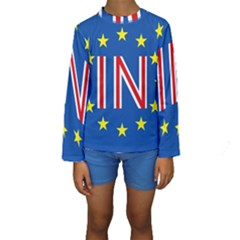 Britain Eu Remain Kids  Long Sleeve Swimwear