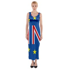 Britain Eu Remain Fitted Maxi Dress by Nexatart