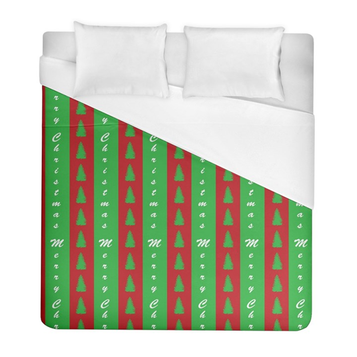 Christmas Tree Background Duvet Cover (Full/ Double Size)