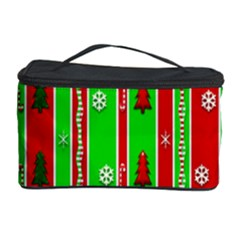 Christmas Paper Pattern Cosmetic Storage Case by Nexatart