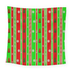Christmas Paper Pattern Square Tapestry (large) by Nexatart