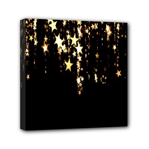Christmas Star Advent Background Mini Canvas 6  X 6  by Nexatart