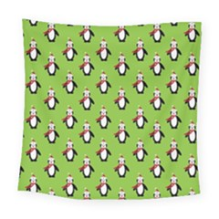 Christmas Penguin Penguins Cute Square Tapestry (large) by Nexatart