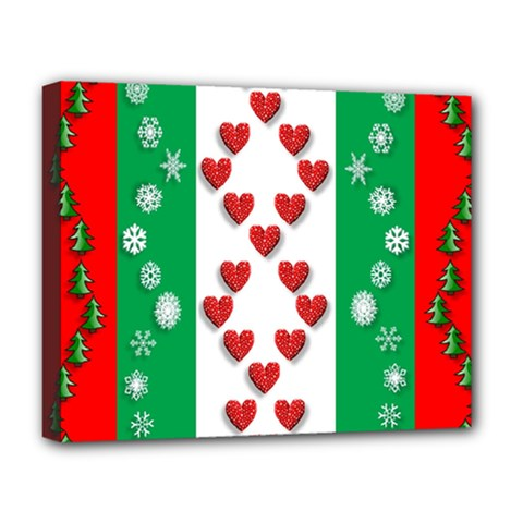 Christmas Snowflakes Christmas Trees Deluxe Canvas 20  X 16