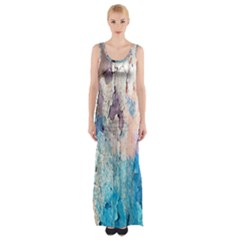Peelingpaint Maxi Thigh Split Dress by digitaldivadesigns