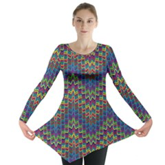 Decorative Ornamental Abstract Long Sleeve Tunic