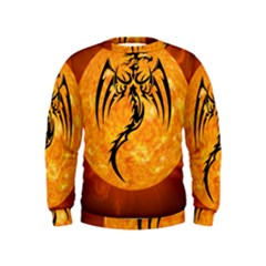 Dragon Fire Monster Creature Kids  Sweatshirt by Nexatart