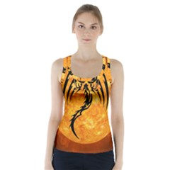 Dragon Fire Monster Creature Racer Back Sports Top by Nexatart