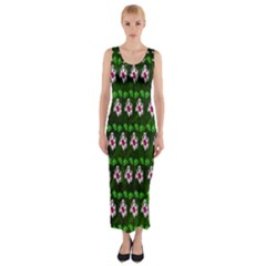 Floral Pattern Fitted Maxi Dress by Nexatart