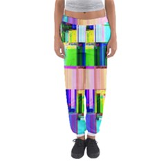Glitch Art Abstract Women s Jogger Sweatpants