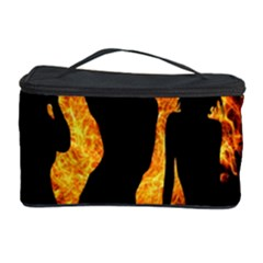 Heart Love Flame Girl Sexy Pose Cosmetic Storage Case by Nexatart