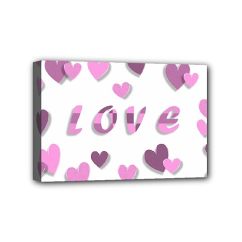 Love Valentine S Day 3d Fabric Mini Canvas 6  X 4  by Nexatart