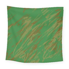 Brown Green Texture                                                 Square Tapestry by LalyLauraFLM
