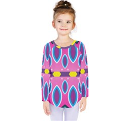Ovals And Stars                                            Kids  Long Sleeve Tee by LalyLauraFLM