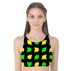 Yellow Green Shapes                                                     Tank Bikini Top by LalyLauraFLM
