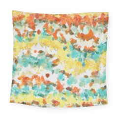 Retro Watercolors                                                     Square Tapestry by LalyLauraFLM