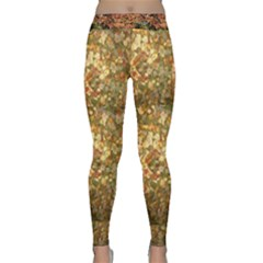 Fallen Autumn Leaves Classic Yoga Leggings
