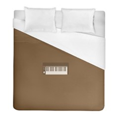 Keyboard Brown Duvet Cover (full/ Double Size) by Jojostore