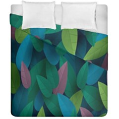 Leaf Rainbow Duvet Cover Double Side (california King Size) by Jojostore