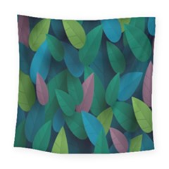 Leaf Rainbow Square Tapestry (large)