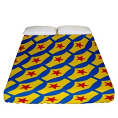 Images Album Heart Frame Star Yellow Blue Red Fitted Sheet (california King Size)