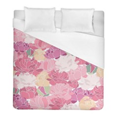 Peonies Flower Floral Roes Pink Flowering Duvet Cover (full/ Double Size) by Jojostore