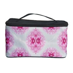 Peony Photo Repeat Floral Flower Rose Pink Cosmetic Storage Case by Jojostore