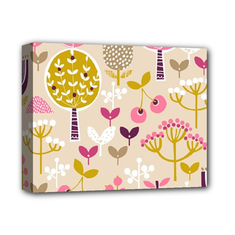 Retro Fruit Leaf Tree Orchard Deluxe Canvas 14  X 11