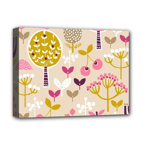 Retro Fruit Leaf Tree Orchard Deluxe Canvas 16  X 12