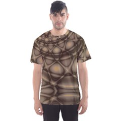 Rocks Metal Fractal Pattern Men s Sport Mesh Tee by Jojostore