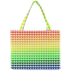 Rainbow Love Heart Valentine Orange Yellow Green Blue Mini Tote Bag