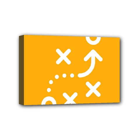 Sign Yellow Strategic Simplicity Round Times Mini Canvas 6  X 4  by Jojostore