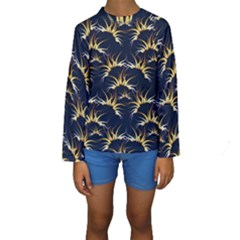 Pearly Pattern Kids  Long Sleeve Swimwear