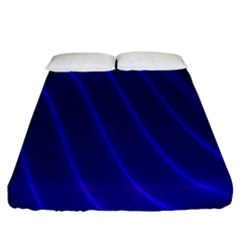 Sparkly Design Blue Wave Abstract Fitted Sheet (king Size)
