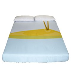 Summer Sea Beach Fitted Sheet (queen Size)