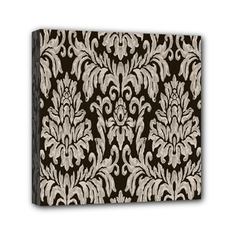 Wild Textures Damask Wall Cover Mini Canvas 6  X 6