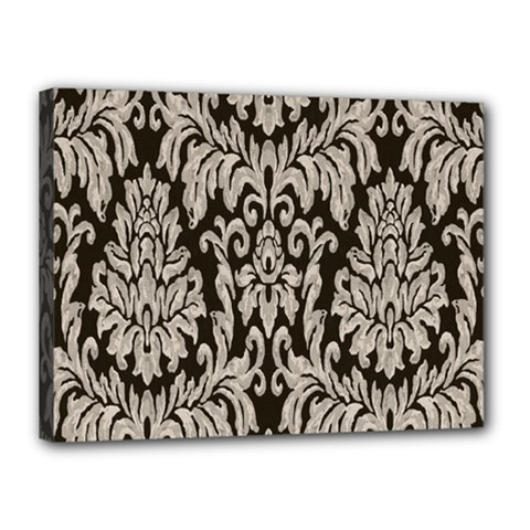 Wild Textures Damask Wall Cover Canvas 16  X 12  by Jojostore