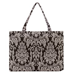 Wild Textures Damask Wall Cover Medium Zipper Tote Bag