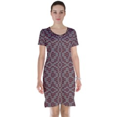 Simple Indian Design Wallpaper Batik Short Sleeve Nightdress by Jojostore